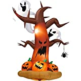 Halloween Decorations 8' Tall Airblown Halloween Inflatable Dead Tree with Ghost on Top/pumpkins on Bottom