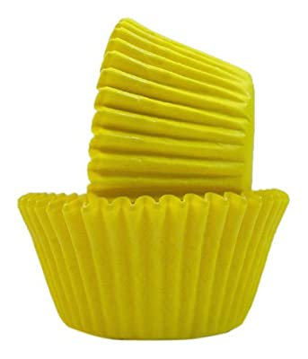 Regency Wraps Greaseproof Baking Cups, Solid Yellow, 40-Count, Standard.