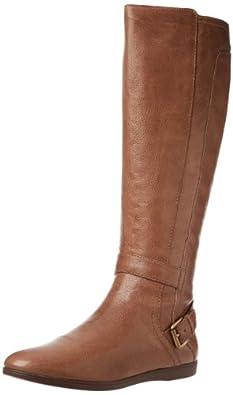 (顶级)玖熙 Nine West Toxicatn Boot 美女真皮高筒皮靴浅 黑 折后$63.37