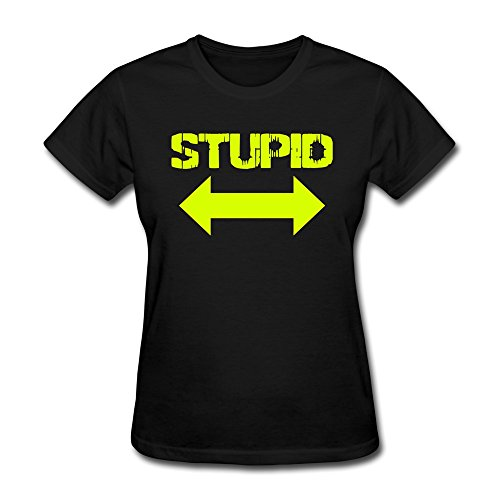 Print Cotton Woman'S Stupid Tees front-33743