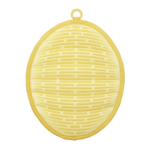 OXO Good Grips Silicone Pot Holder with Magnet, Lemon Chiffon Yellow