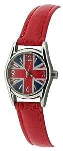 Union Jack Damen-Armbanduhr Analog rot UJ15/D