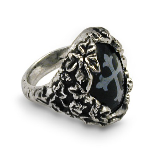 Cemetary Alchemy Gothic Ring - size 12