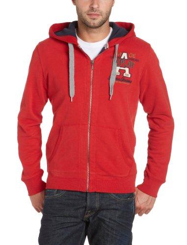 Replay Men's M3183 .000.20770 Sweatshirt Red (357 Pepper Red) 48