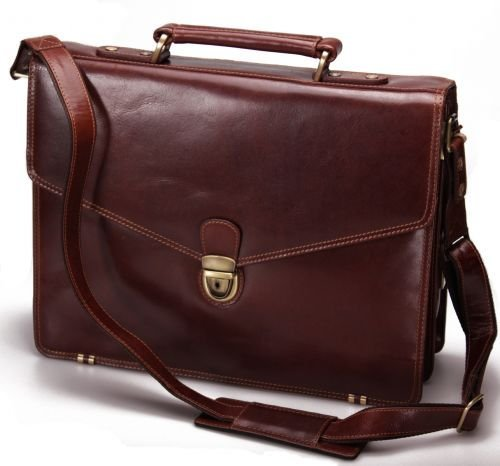 Visconti Vintage Genuine Leather Lockable Work A4 Laptop Briefcase Messenger Bag # VT8