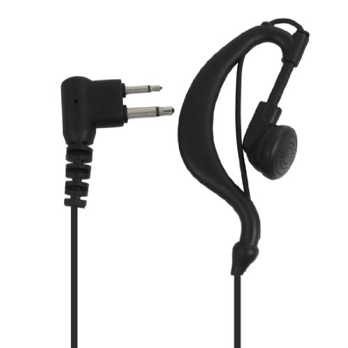 Black Cable Earphone Microphone For Kenwood Tk Two Way Radio