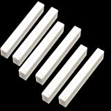 6Pcs Bone Guitar Nuts Blank For Electric Bass Acoustic Classical Guitar Mandolin Banjo Ukulele Nut Blank,52x6x10,MusicOne
