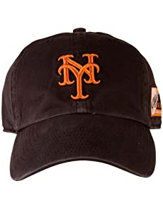 MLB New York Giant Fitted Baseball Hat, Small, Black