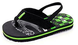 Kids Baby Little Kids Boys Toddler Neoprene Sling Flip Flops Summer Shoes (Toddler 8, Green)