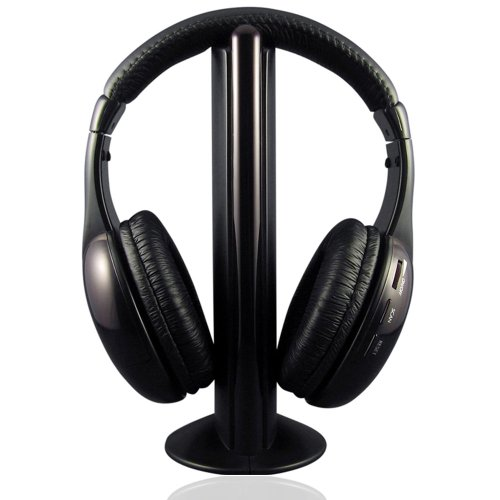 New 5 In 1 Wireless Headphone For Pc Mp3 Fm Radio Vcd Player + Fm Transmitter