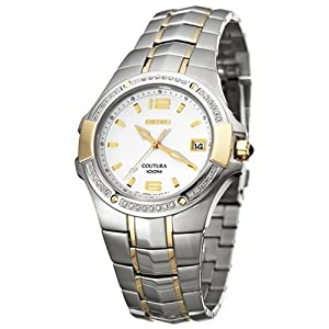 Click to buy Seiko Watches for Men: SGED28 Coutura Diamond Watch from Amazon!