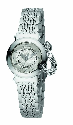 John Galliano Ladies Watch R1553100945 In Collection Elu, 26mm, 3 H and S, Silver White Dial and Stainless Steel Bracelet