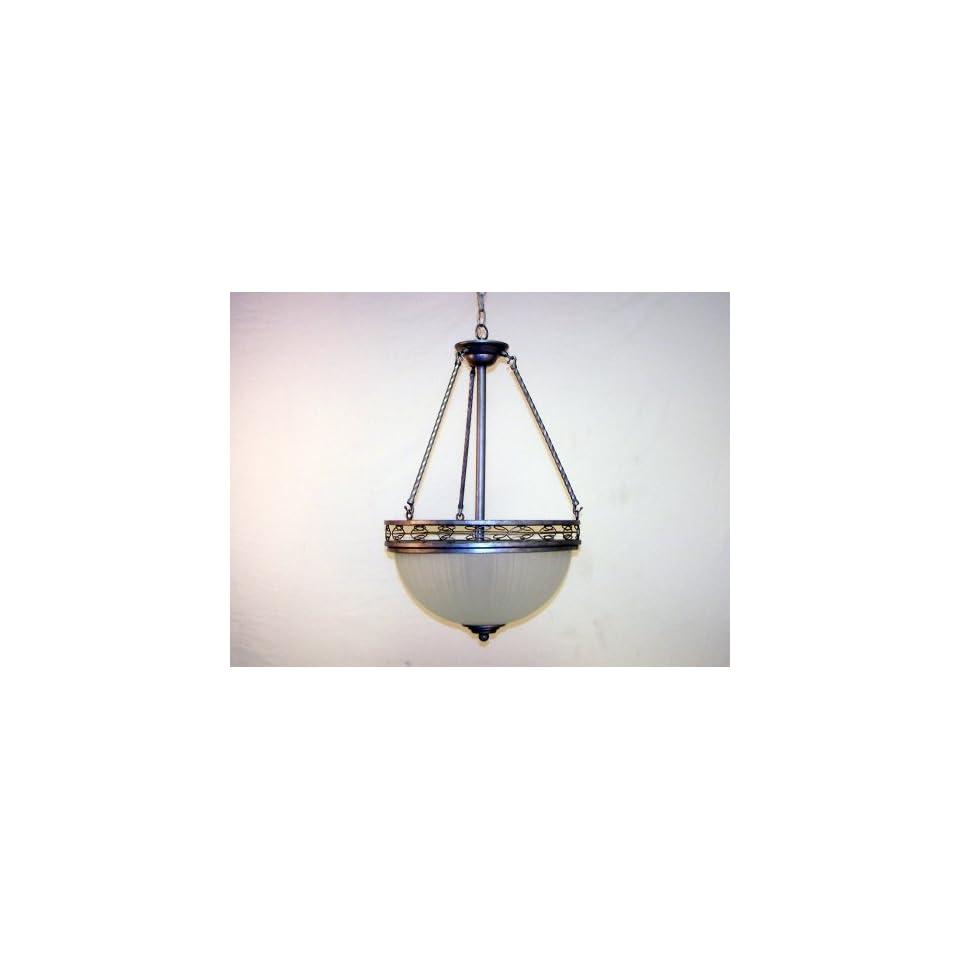 NEW 3 Light Antique Pewter Hanging Pendant Chandelier Chandalier light lighting fixture BEAUTIFUL