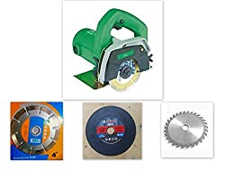 Agni/prithvi Powerful cutting machine (1200 W) (11000 RPM) (110 mm) for wood/marble/tile/granite/metal cutting Free 3 wheels