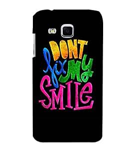 MULTICOLOURED HAPPINESS QUOTE IN A BLACK BACKGROUND 3D Hard Polycarbonate Designer Back Case Cover for Samsung Galaxy J3 :: Samsung Galaxy J3 J300F