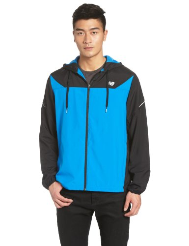 New Balance New Balance Men's Hooded Sequence Jacket, Electric Blue, X-Large