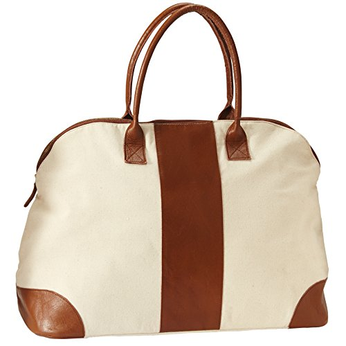 Mud Pie Women's Fashion Leather Miller Weekender Blank (Mud Pie Weekender Bag compare prices)