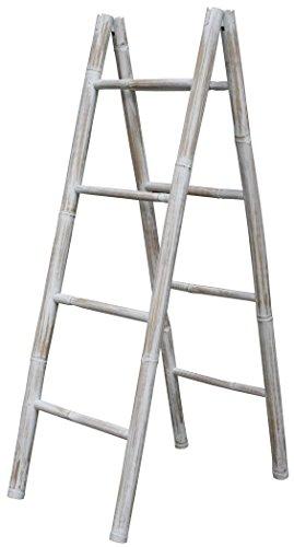 LioLiving-Handtuchhalter-Dekoleiter-aus-Bambus-weiss-white-washed-doppelt-50-x-78-x-150-cm-400152