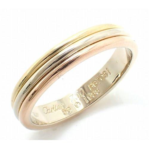 [カルティエ] Cartier トリニティ スリーゴールド リング 指輪 スリーカラー シングルタイプ K18YG WG PG 750 #56