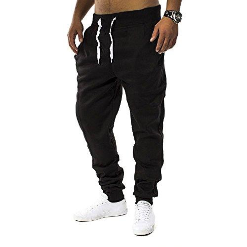 Pantaloni della tuta Uomo Fit & Casa ID1128 (vari colori), Farben:Schwarz;Größe-Hosen:S