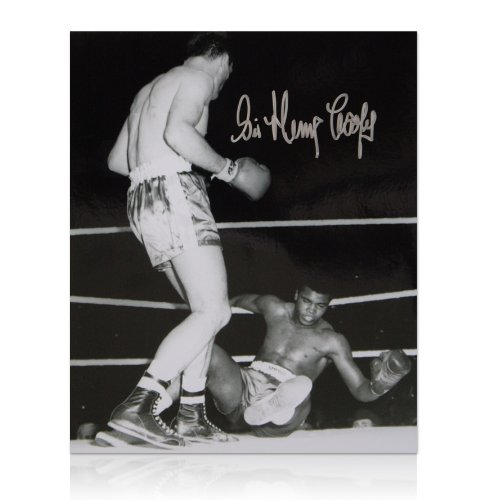 Henry Cooper signed black & white photo - Ali Knocked Down