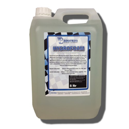 Hydrofoam - Professional Upholstery, Carpet and Fabric Cleaner For Cars and Household - 5 Litres