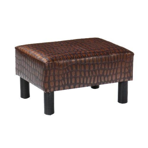Southern Enterprises, Inc Alligator Print Foot Stool