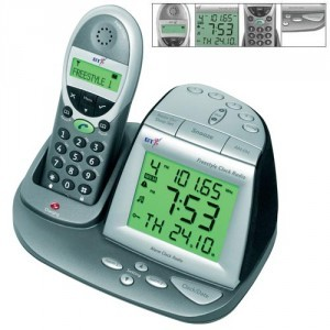 alarm clock cordless phone combo for sale review buy. Black Bedroom Furniture Sets. Home Design Ideas