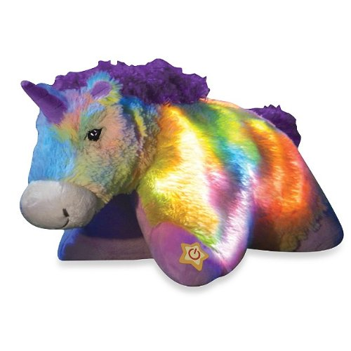 Pillow Pets® Glow Pets Rainbow Unicorn 16""