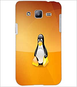 PrintDhaba Cute Penguin D-1059 Back Case Cover for SAMSUNG GALAXY J2 (Multi-Coloured)