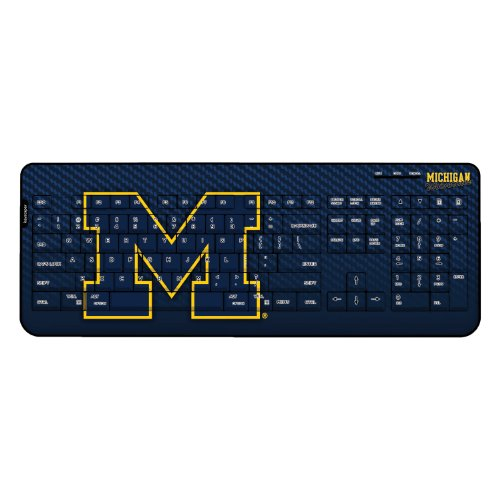 Michigan Wolverines Wireless Usb Keyboard Ncaa