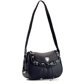 Genuine Premium Pebble-Grain Leather Handbag - Black