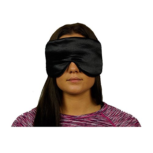 Sleep Eye Mask for sleeping to block light, Made From Satin/silk, & Comfortable Fluffy Batting. Master Your Sleep Cycle,travel & migraines with a hi