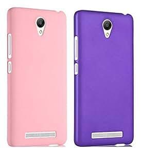 Chevron Back Cover Combo Of 2 for XiaoMi RedMi Note 2 Prime (Light Pink, Purple)