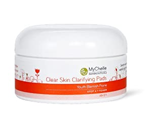 MyChelle Clear Skin Clarifying Pads, 30-Count Jars (Pack of 2) from MyChelle Dermaceuticals