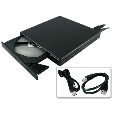 Sanoxy Super Slim External Portable Usb 24X Cd-Rom Drive