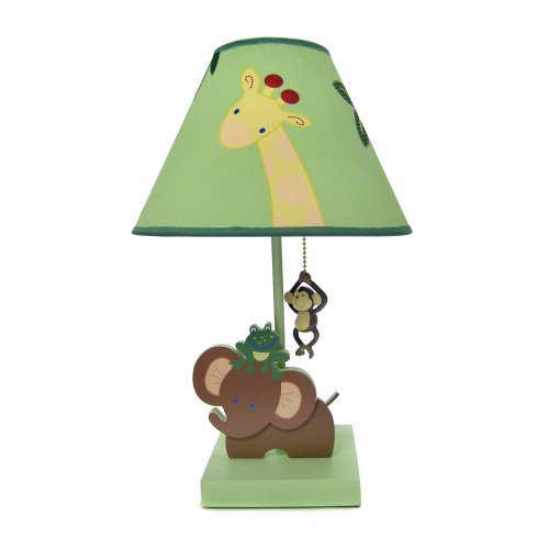 NoJo Jungle Babies Lamp and Shade