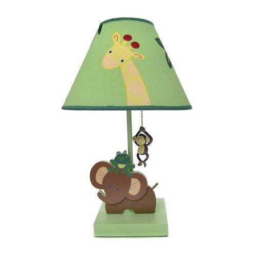 NoJo Jungle Babies Lamp and Shade - 1