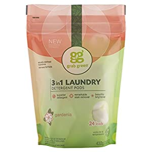 Grab Green Natural 3-in-1 Laundry Detergent, Gardenia, 24 Loads