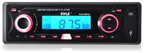Pyle Plr17Mpua In-Dash Am/Fm-Mpx Receiver Mp3 Playback With Usb/Sd Card And Aux-In