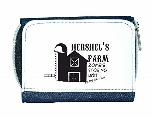 Zombie riporre unità non aprire Dead interno parodia Hershel s Farm Zombie-Borsetta da donna a portafoglio porta carte di credito, blu (Blu) - LP-zombie-store-Blue-12x9cm
