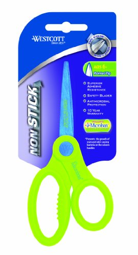 Westcott Non Stick Kids Scissors With Anti-microbial Protection, Assorted, 5-Inch Pointed (14901) - 1