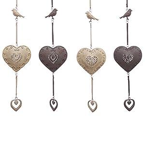 Amazon.com - Puckator 80Cm Metal Hanging Heart & Bird Decoration -