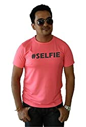 LetsFlaunt #Selfie T-shirt Guys Salmon Dry-Fit-Large Nw