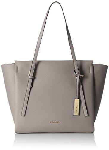 Calvin Klein JeansM4RISSA LARGE TOTE - Borsa shopper Donna , Grigio (Grau (FUNGI 094)), 30x48x15 cm (B x H x T)