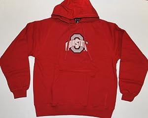 Ohio State Buckeyes Antigua Hooded Sweatshirt Goalie Red White (XL) by Antigua