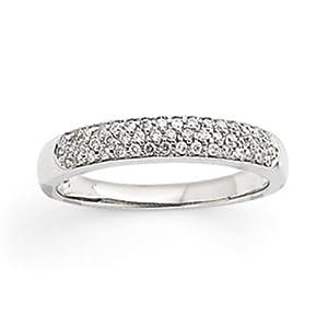 IceCarats Designer Jewelry Size 7 14K White Gold Fancy Diamond Ring