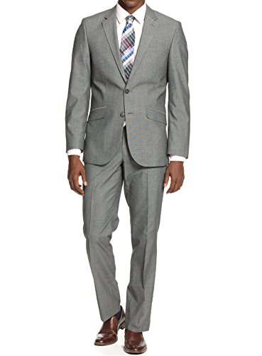 Kenneth-Cole-Unlisted-Medium-Grey-Pindot-2-Button-New-Mens-Suit-Set