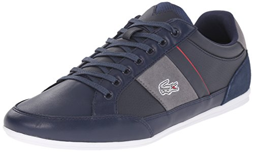 Lacoste Men's Chaymon 216 1 Fashion Sneaker, Navy/Light Grey, 11 M US
