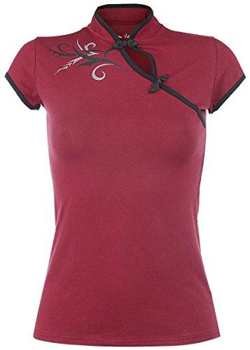 Fashion Victim Tribal Fantasy Maglia donna rosso XL